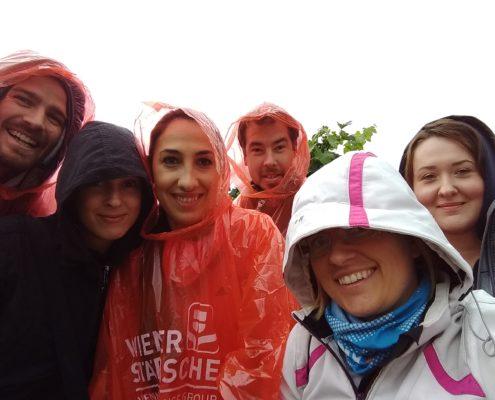 TechTalk Team im Regen